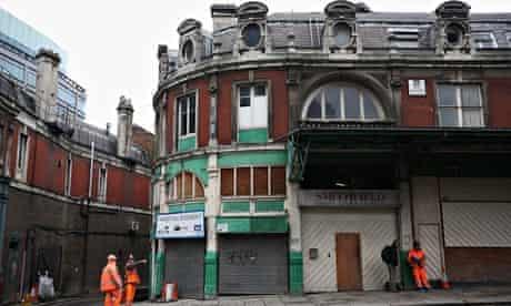 Smithfield Market Regeneration Project – The derelict western end of Smithfield market