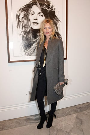 Fashionistas: Kate Moss at the Bailey's Stardust Private View