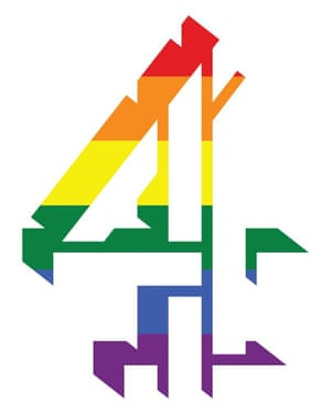 Channel 4's iconic symbol displays a rainbow spectrum, reminiscent of the classic 1990's logo.