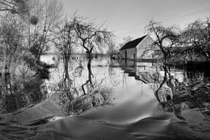 Somerset floods: house