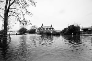 Somerset floods: James Winslade's house
