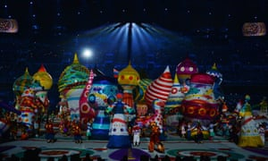 A colourful inflatable domed city during the Opening Ceremony of the Sochi 2014 Winter Olympics.