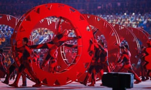 Dancers perform during the opening ceremony of the 2014 Sochi Winter Olympics.
