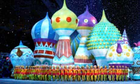 Dancers at the opening ceremony of the Sochi 2014 Winter Olympics