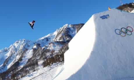 Mark McMorris of Canada performs in the men's slopestyle.