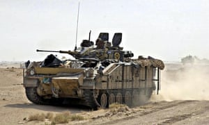 A British armoured personnel carrier in Iraq