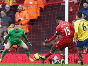 Liverpool's Daniel Sturridge. 4-0!