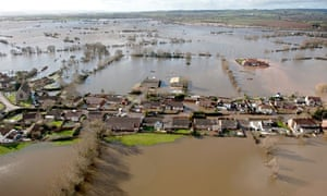 Flooded village of Moorland