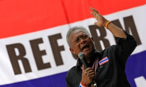 Suthep Thaugsuban, leader of the anti-government protests in Thailand