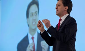 Ed Miliband speaking at the Labour special conference.