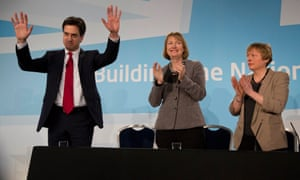 Here's Ed Miliband from earlier, with Harriet Harman and Angela Eagle.