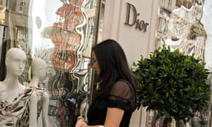 Window shopping in Knightsbridge is a popular pastime for wealthy foreigners