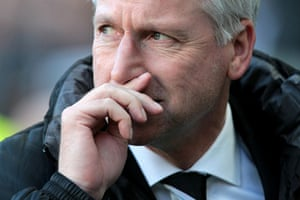 Pardew Headbutt: Newcastle United's English manager Alan Pardew