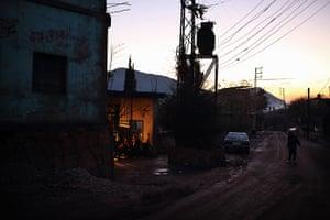 Qabaait, northern Lebanon: Qaabait village at dusk