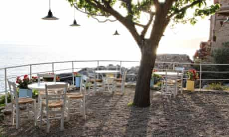 Lela's Taverna overlooks the old port in the , Kardamyli in the Peloponnese