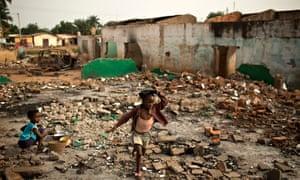 Bangui rubble