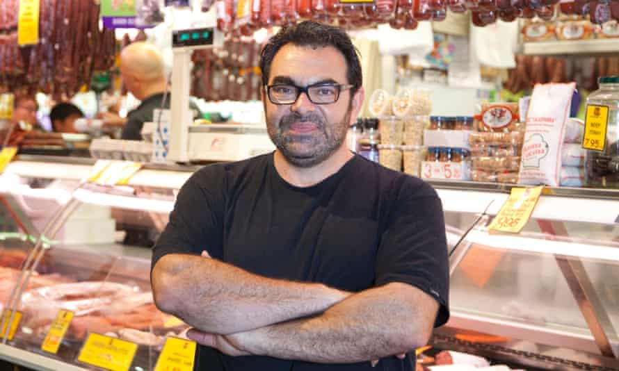 Ross Savvas of Con's Fine Foods at Central Market.
