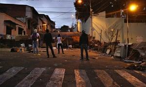 San Cristobal barricade