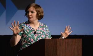 Lena Dunham, writer and star of HBO's series Girls speaks during the SXSW 2014 film festival