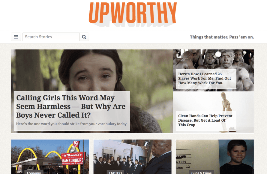 Upworthy attracts up to 60m unique visitors a month.