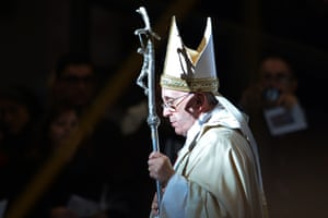 Pope Francis leads the Epiphany mass in St. Peter's Basilica, in Vatican, on January 6, 2014.