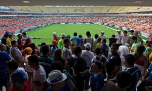 Fans at the Arena Amazonia in Manaus