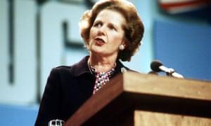 Prime Minister Margaret Thatcher in 1984.