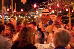 Lola's Pergola: Maxwell Mason, the host of the First Fruit Dinners speaks to guests