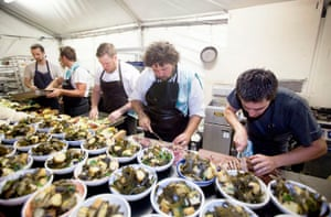 Lola's Pergola: Chefs prepare the Appetite for Excellence degustation dinner