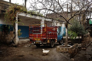 Qabaait, northern Lebanon: A truck sits in a Qabaait courtyard