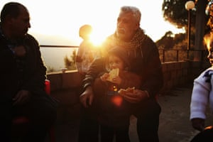 Qabaait, Northern Lebanon: A man and his son in Qabaait