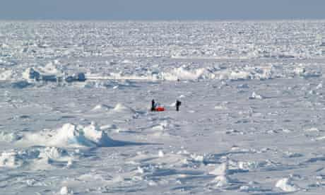 Scientists on ice during a 2012 Australian expedition to the Antarctic