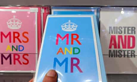Cards for same-sex marriage couples