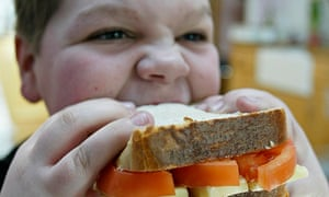 A child eating a sandwich