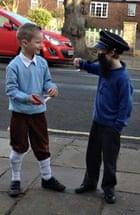 Atholl and Jake as Tin Tin and Captain Haddock
