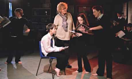 Drama teacher NancyPowell-Brace teaching a class