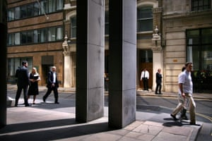 Big Picture: Square Mile: London's Square Mile. Office workers on sunny street