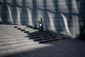 Big Picture: Square Mile: London's square mile, Office worker climbing stairs