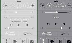 iOS 7.0 (left) and iOS 7.1