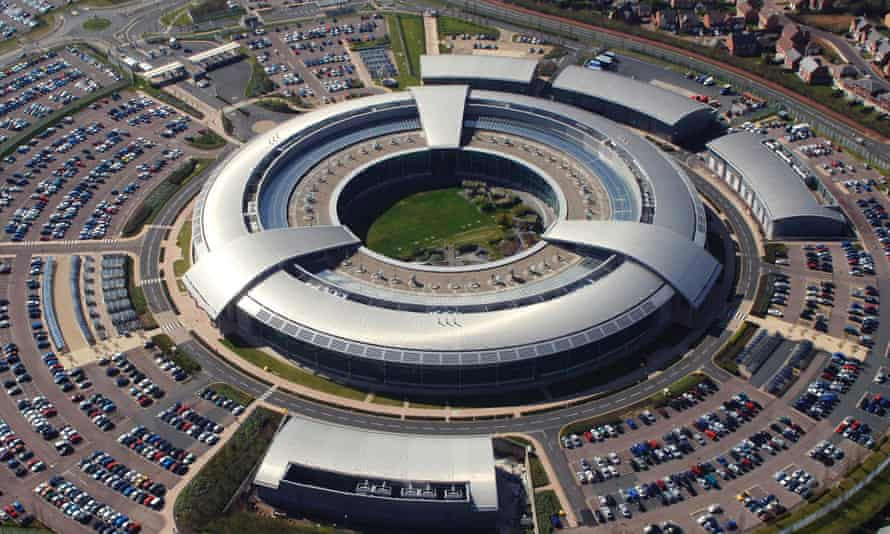 An aerial image of the British Government Communications Headquarters (GCHQ) in Cheltenham, Gloucestershire, west central England.
