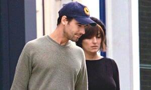 Davina McCall with husband Matthew Robertson in 2001