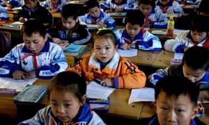 Pupil classroom Beijing China