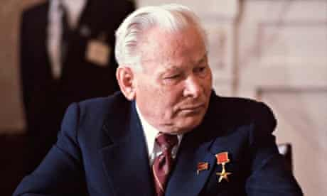 Soviet leader Konstantin Chernenko at the SALT II Treaty talks