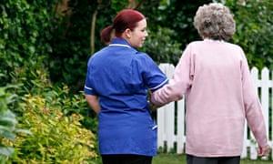 Alzheimer's care worker