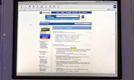 Computer screen logged on to the Netscape Navigator internet search engine