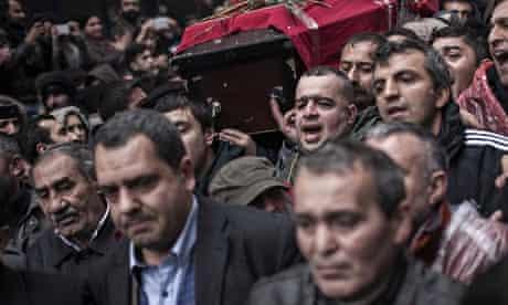 Berkin Elvan's coffin