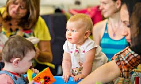 A baby at a nursery in Bristol