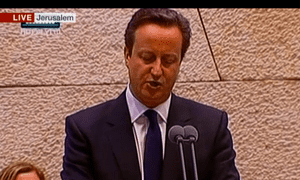 David Cameron in the Knesset