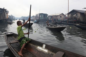 Floating cities: In Lagos, the sprawling slum of Makoko regularly suffers floods, and its st