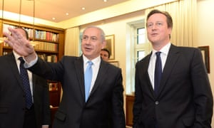 Israeli prime minister Benjamin Netanyahu meeting  David Cameron.
